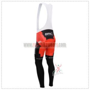 2014 Team BMC Riding Long Bib Pants Red Black