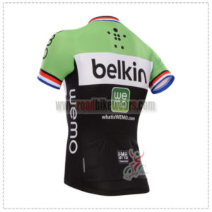 2014 Team Belkin Bicycle Jersey Red Blue