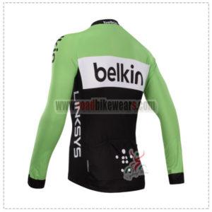 2014 Team Belkin Bicycle Long Jersey Green Black