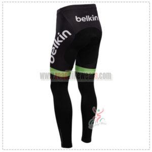 2014 Team Belkin Biking Long Pants Green Black
