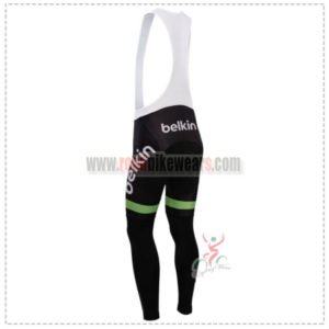 2014 Team Belkin Riding Long Bib Pants Green Black