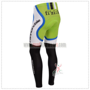 2014 Team CANNONDALE Pro Cycle Long Pants Green White