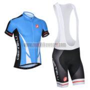 2014 Team CASTELLI Cycling Bib Kit Blue