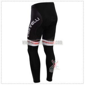 2014 Team Castelli Biking Long Pants Black White