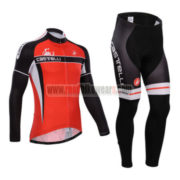 2014 Team Castelli Cycling Long Kit Red