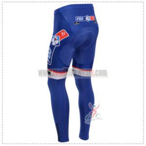 2014 Team FDJ Pro Bicycle Long Pants Blue