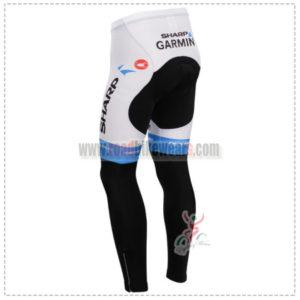 2014 Team GARMIN SHARP Cycle Long Pants Blue White