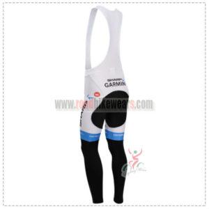 2014 Team GARMIN SHARP Riding Long Bib Pants Blue White