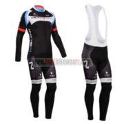 2014 Team NALINI Cycling Long Bib Kit Black