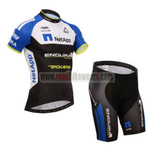 2014 Team NetApp Pro Cycling Kit Blue White Black