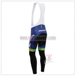 2014 Team ORICA GreenEDGE Riding Long Bib Pants White Blue