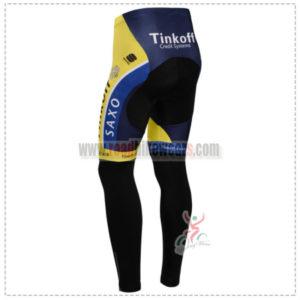 2014 Team SAXO BANK Biking Long Pants Yellow Blue