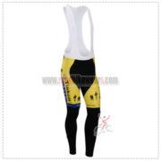 2014 Team SAXO BANK Cycling Long Bib Pants Yellow Blue