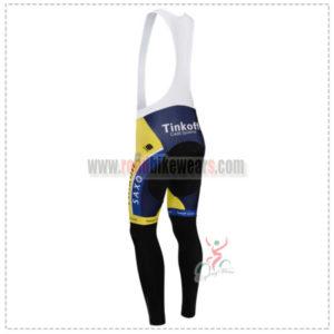 2014 Team SAXO BANK Riding Long Bib Pants Yellow Blue