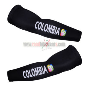 2015 Team COLOMBIA Cycling Arm Warmers Black