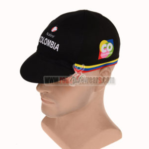 2015 Team COLOMBIA Cycling Cap Hat Black