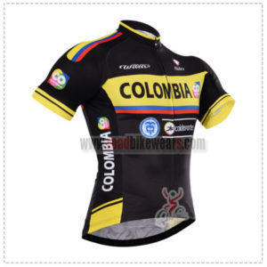 a21cb7718ea 2015 Team COLOMBIA Cycling Outfit Riding Jersey Top Shirt Maillot Cycliste