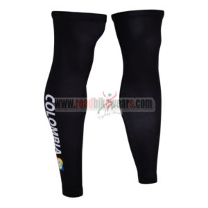 2015 Team COLOMBIA Cycling Leg Warmers Black