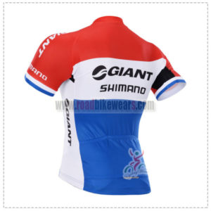 2015 Team GIANT SHIMANO Bicycle Jersey Red Blue