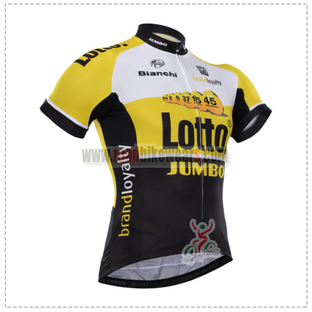 2015 Team LOTTO JUMBO Cycling Jersey Yellow Black
