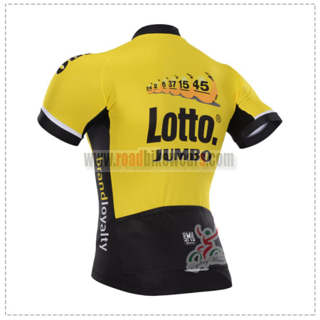2015 Team LOTTO JUMBO Riding Jersey Yellow Black