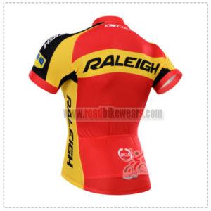 2015 Team RALEIGH Biking Jersey Red Yellow