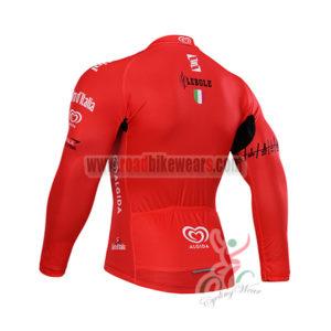 2015 Tour de Italia Biking Long Jersey Red