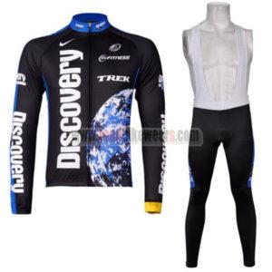 2007 Team Discovery Cycling Long Bib Kit Black Blue