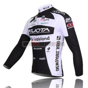 2010 Team KUOTA Bicycle Long Jersey Black White