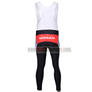 2010 Team RadioShack Riding Long Bib Pants Grey Red