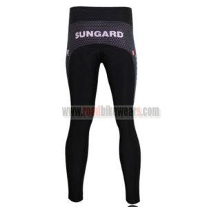 2010 Team SAXO BANK Biking Long Pants Black White Blue