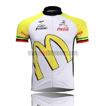 2011 Mcdonald's Road Bike Wear Riding Jersey Top Shirt Maillot Cycliste White Yellow