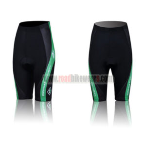2011 SURARU Women's Cycle Shorts Black Green Line