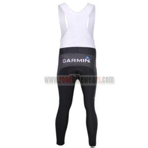 2011 Team GARMIN Riding Long Bib Pants Black White
