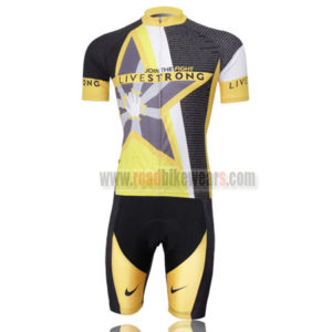 2011 Team LIVESTRONG Bicycle Kit Yellow Black