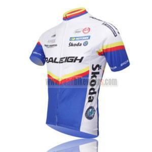 2011 Team RALEIGH Bike Jersey White Blue