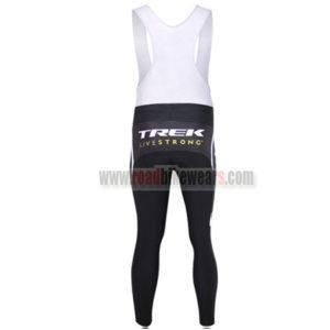 2011 Team TREK Biking Long Bib Pants White Black