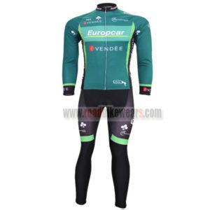 2012 Team Europcar Cycle Long Kit Green