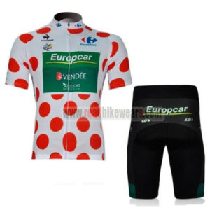 2012 Team Europcar Tour de France Cycle Kit Polka Dot
