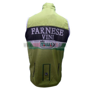 2012 Team FARNESE VINI ITALIA Riding Vest Sleeveless Waistcoat Rain-proof Windbreak Green
