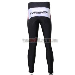 2012 Team ORBEA Bicycle Long Pants Black Red