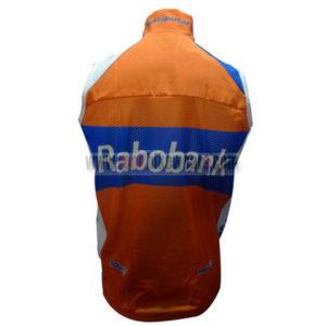2012 Team Rabobank Biking Vest Sleeveless Waistcoat Rain-proof Windbreak Orange Blue