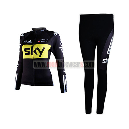 2012 Team SKY Women's Cycle Kit Long Sleeve