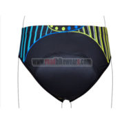 2012 Women's Cycling Briefs Yellow Blue Lines