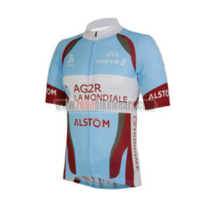 c03b5db69 2013 Team AG2R LA MONDIALE Riding Clothing Biking Jersey Top Shirt Maillot  Cycliste Blue Red