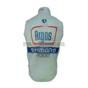 2013 Team Argos SHIMANO Biking Vest Sleeveless Waistcoat Rain-proof Windbreak White