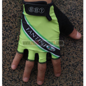 2013 Team FANTINI Cycling Gloves Mitts Green