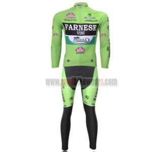2013 Team FARNESE VINI Bicycle Long Kit Green