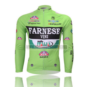 2013 Team FARNESE VINI Cycling Long Jersey Green