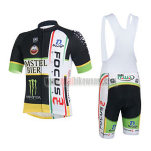 2013 Team FOCUS Cycling Bib Kit Black White